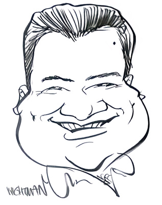 caricature of Daniel Saw